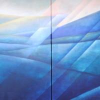 landschap 100x200 tweeluik(sold)